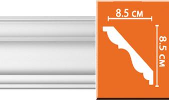 Плинтус потолочный гладкий B070F гибкий