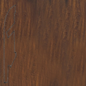 Плинтус доска из темного дуба лакированная 1013