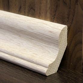 Плинтус из массива дуба галтель лодочка высший сорт