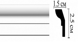 Плинтус потолочный  DM15