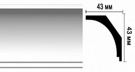 Плинтус потолочный DM17