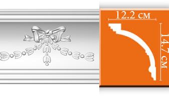 Плинтус потолочный с рисунком A121