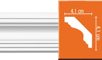 Плинтус потолочный гладкий B014F гибкий