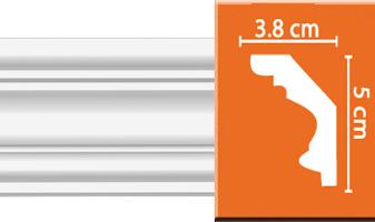 Плинтус потолочный гладкий B028F гибкий