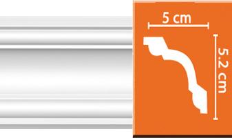 Плинтус потолочный гладкий B030F гибкий
