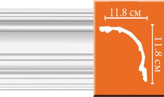Плинтус потолочный гладкий B082