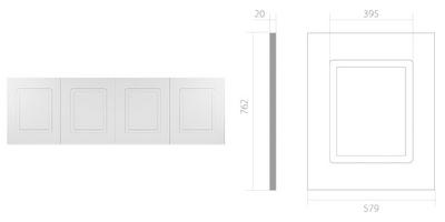 Панель UPP001 Панель д/стен 4 филенки