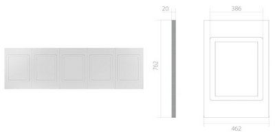 Панель UPP002 Панель д/стен 5 филенок