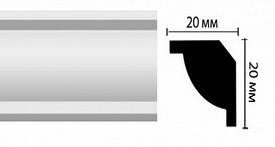 Плинтус потолочный DM14
