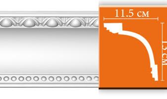 Плинтус потолочный с рисунком A111F гибкий